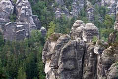 German National Park Sachsische Schweiz Royalty Free Stock Photos