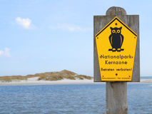 German National Park Sign Royalty Free Stock Photography