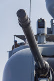 German navy cannon on boat Stock Photo