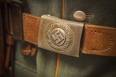 German nazi army buckle and strap from the second world war.  Royalty Free Stock Photos