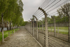German Nazi concentration camp Auschwitz-Birkenau in Poland Royalty Free Stock Image