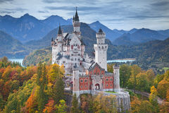 German Neuschwanstein zamek Obrazy Royalty Free