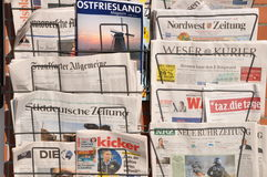 German daily newspaper Royalty Free Stock Images