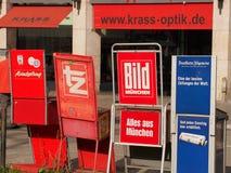 German newspapers Stock Photos