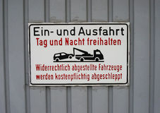 German no parking sign Royalty Free Stock Photos