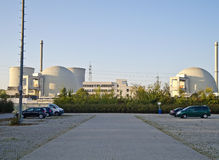 German Nuclear Power Station. Biblis (Germany), October 16, 2011: Nuclear power station in Biblis (Hesse, Germany). Plant operator: RWE Group Stock Photos