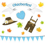 German october party symbols isolated. On white background Stock Photos