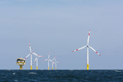 German offshore wind farm Royalty Free Stock Images