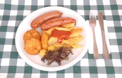 German Oktoberfest meal Royalty Free Stock Photos