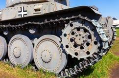 German old light tank caterpillar Royalty Free Stock Image