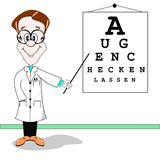 German optician cartoon Royalty Free Stock Photo