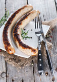 German pair of Bratwurst Royalty Free Stock Images