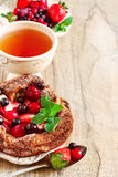 German pancake background Stock Photography