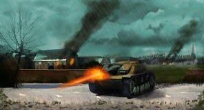 A German panzer tank Royalty Free Stock Images