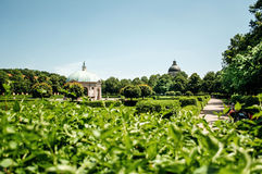 German park in Munchen with Dianatempel Royalty Free Stock Photos