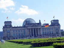 German parliament. The Reichstag in Berlin Stock Photography