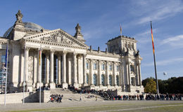German parliament in Berlin, october 2010 Royalty Free Stock Image