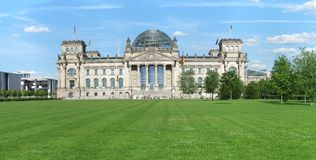 The German Parliament Building in Berlin Stock Photography