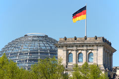 German Parliament, Bundestag in Berlin Stock Image