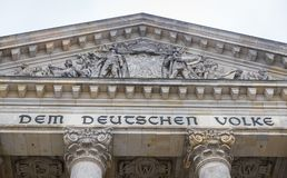 German parliament, Reichstag building in Berlin, Germany Stock Image