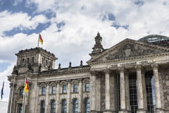 German parliament (Reichstag) building in Berlin Royalty Free Stock Images