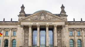 German parliament, Reichstag building in Berlin, Germany Royalty Free Stock Photos
