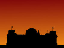 German Parliament at sunset Royalty Free Stock Photography