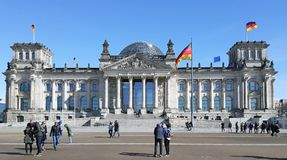 Berlin, Germany showcasing it`s parliament building. royalty free stock images