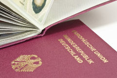 German Passport 03. German passports on white background stock image