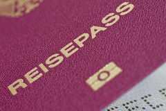 German Passport 04. German passport close-up view royalty free stock photo