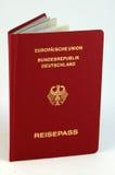 german passport Royaltyfri Bild