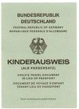 German Passport Royalty Free Stock Images
