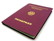 A German passport isolated Royalty Free Stock Photo