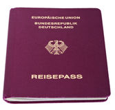 Isolated German Passport. A German passport Isolated on white background Stock Images