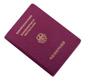 Isolated German Passport Royalty Free Stock Photo