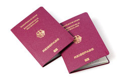 German passports Stock Photography