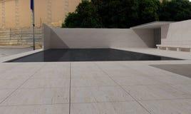 German Pavilion, Barcelona, Mies Van der Rohe. 3D illustration Royalty Free Stock Images