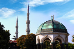The German pavilion in Istanbul. German gazebo in Istanbul, Turkey. Famous place in the central part of the city Stock Photography