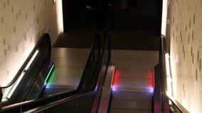 German people seniors on escalator inside Elbe Philharmonic