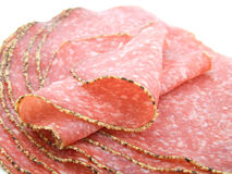 German pepper salami sausage Stock Images
