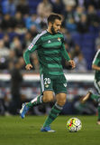 German Pezzella of Real Betis. During a Spanish League match against RCD Espanyol at the Power8 stadium on March 3, 2016 in Barcelona, Spain royalty free stock photography