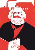 German philosopher Karl Marx  illustration Royalty Free Stock Photos