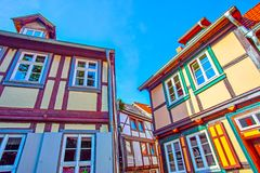 German picturesque medieval houses royalty free stock photography