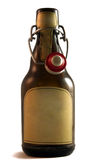 German pils beer bottle. A german pils beer bottle isolated with empty label white background Royalty Free Stock Photography