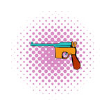 German pistol icon, comics style Royalty Free Stock Images
