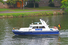 German police boat Royalty Free Stock Photos