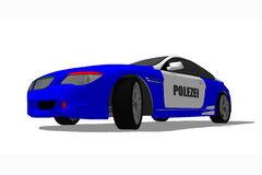 German Police Car. Illustration of German Police car against white background Stock Photos