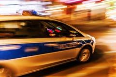 German police car at night Royalty Free Stock Photos