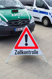 German police for customs duty control Stock Image
