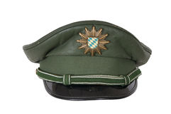 German police hat, against Royalty Free Stock Photography